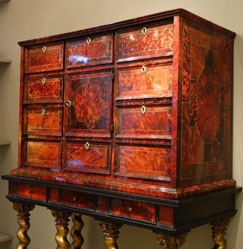 Tortoiseshell Cabinet , Antwerp Work, 17th Century  - Louis XIII