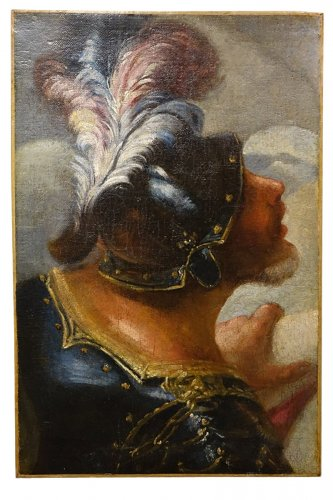 Profile of Man in Armor Wearing a Helmet Venice, Italy, 17th Century