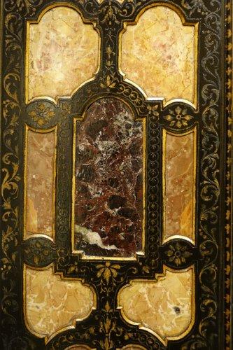 Furniture  - Florentine cabinet in marquetry of precious stones, circa 1800-1820