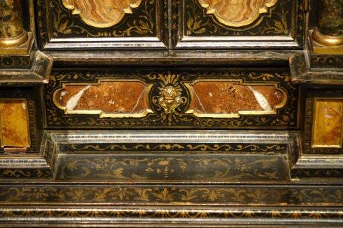 Antiquités - Florentine cabinet in marquetry of precious stones, circa 1800-1820