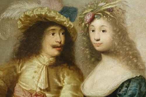 Paintings & Drawings  - Portrait of a young couple - Flemish School of the 17th century
