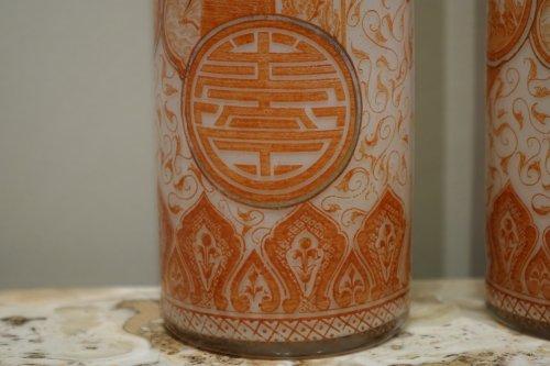 20th century - A Pair of François-Théodore Legras Antique Glass Vases Circa 1900