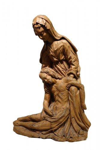 Original Terracotta Representing a Virgin of Mercy, France 17th Century