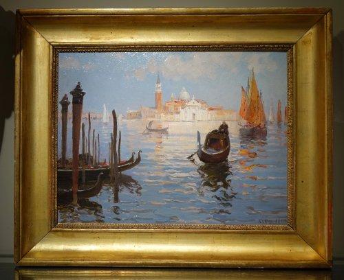 A View of San Giorgio Maggiore - Suzanne Adam-Laurens 1861-1915