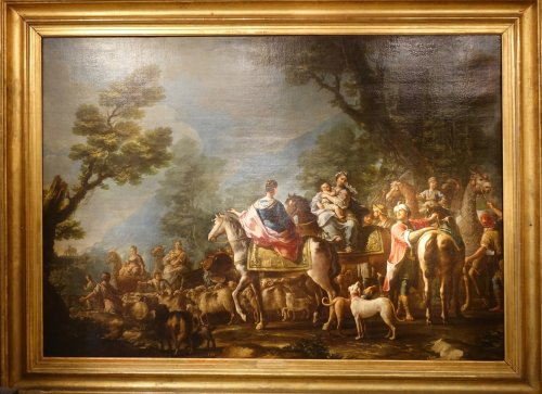 Jacob Returns to Canaan, Attributed to Charles Amedée Van Loo
