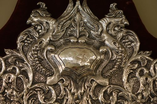 19th century - Neo Renaissance 19th Century Silver Plated Mirror, France
