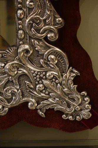 Neo Renaissance 19th Century Silver Plated Mirror, France - Napoléon III