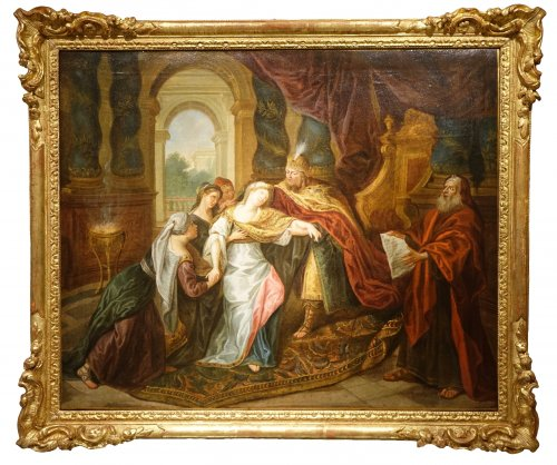 The Fainting of Esther - French school circa 1720