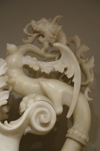 Pair of alabaster ewers, Italy, 19th century -