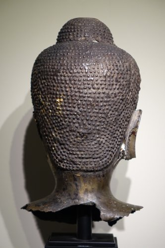 Asian Art & Antiques  - Buddha Head in Lost-Wax Casting Bronze, Ayutthaya, 17th Century, Thailand