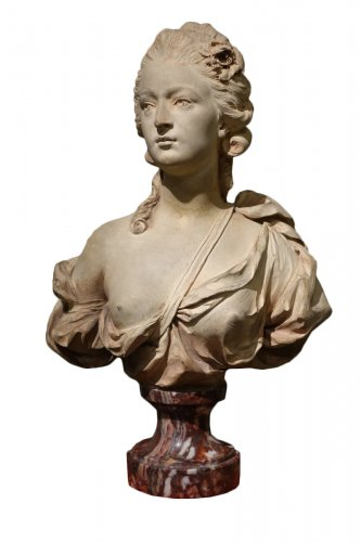 A Terracotta Bust  - Augustin PAJOU (1730-1809) and workshop