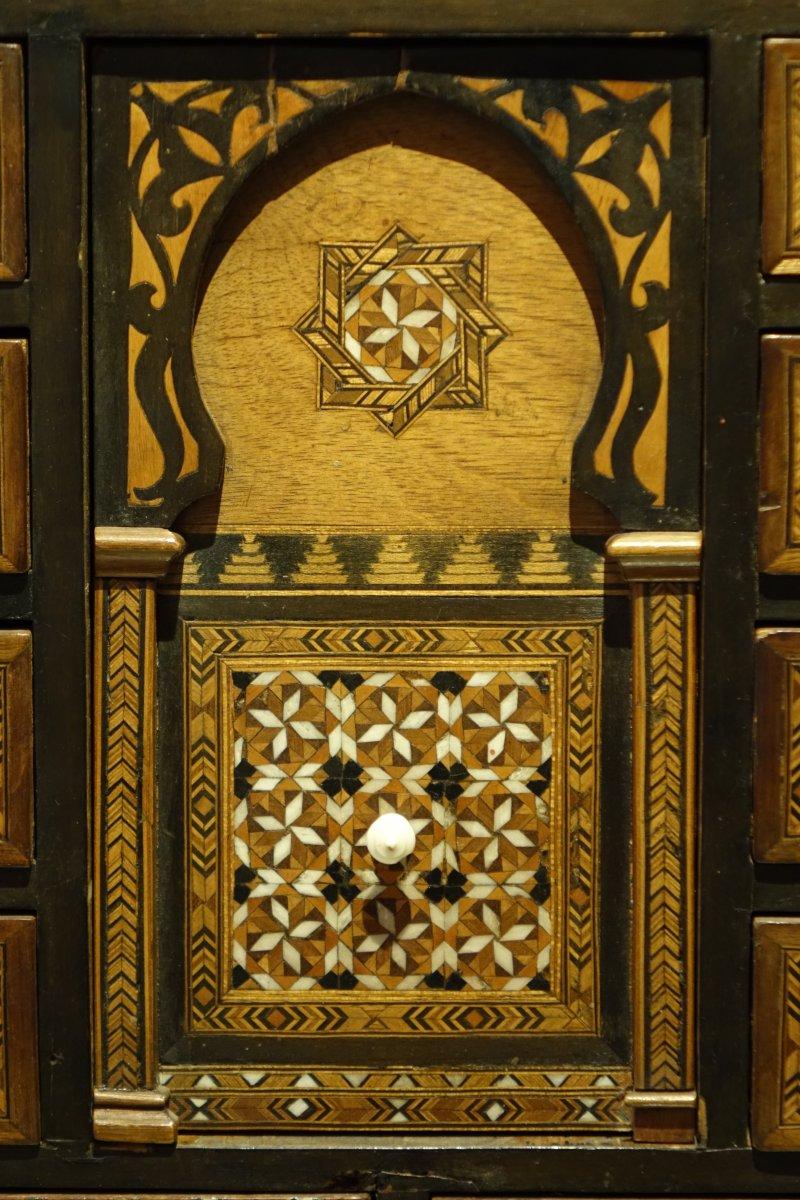 cabinet arabo andalou vers 1920 1930 xxe si cle. Black Bedroom Furniture Sets. Home Design Ideas
