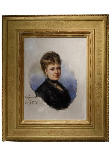 Portrait Of Mary Of Colbert 1882 -FAIVRE-DUFFER (1818-1897)