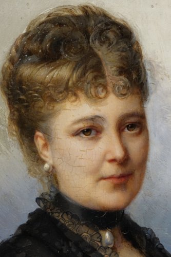 Portrait Of Mary Of Colbert 1882 -FAIVRE-DUFFER (1818-1897) - Paintings & Drawings Style Napoléon III