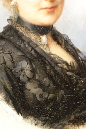 Paintings & Drawings  - Portrait Of Mary Of Colbert 1882 -FAIVRE-DUFFER (1818-1897)