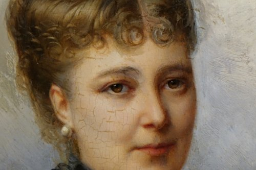 19th century - Portrait Of Mary Of Colbert 1882 -FAIVRE-DUFFER (1818-1897)