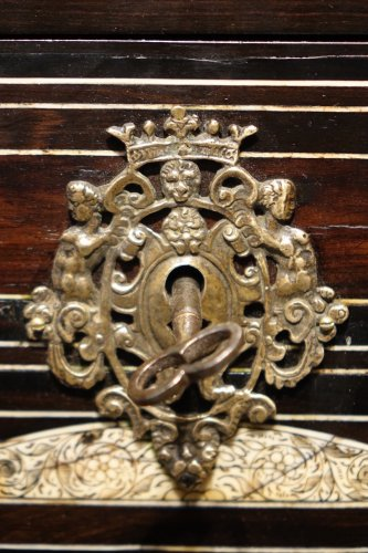17th century - A 17th Century Rosewood Cabinet Augsburg or Venice