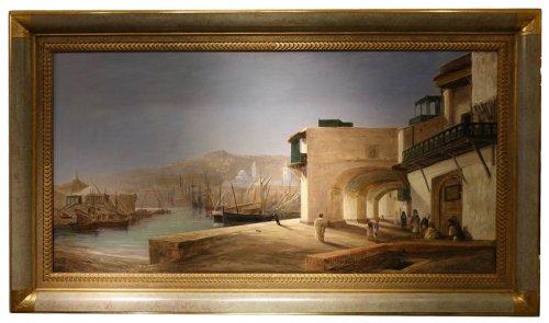 The Harbor of Algiers - Charles de Tournemine (1812-1872)