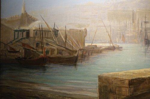 Paintings & Drawings  - The Harbor of Algiers - Charles de Tournemine (1812-1872)