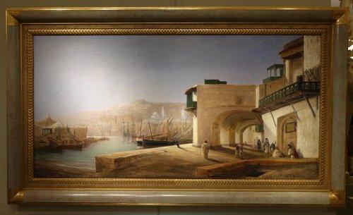 The Harbor of Algiers - Charles de Tournemine (1812-1872) - Louis-Philippe