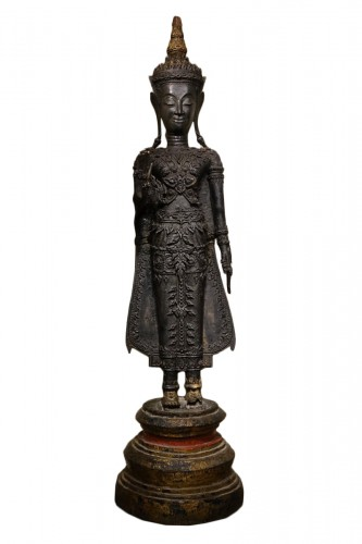 Ayuthaya Period Buddha in the Abhaya Mudra Postion Circa 1650