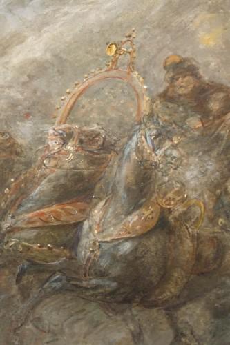 Watercolor with Highlights of Gouache Signed Joseph Navelet - Napoléon III