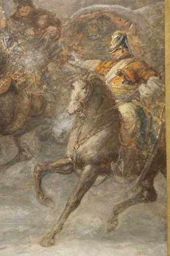Napoléon III - Watercolor with Highlights of Gouache Signed Joseph Navelet