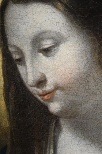 17th century - Virgin in Adoration, 17th Century French School