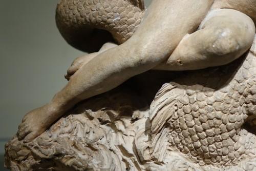Sculpture  - Marine Centaur and Nymph, Original Terracotta, French work, circa  1770