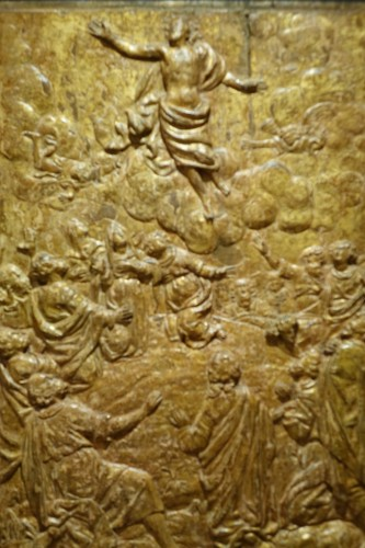 Sculpture  -  Pair of Carved Oak Gilt Panels, Flanders Late 16th Century