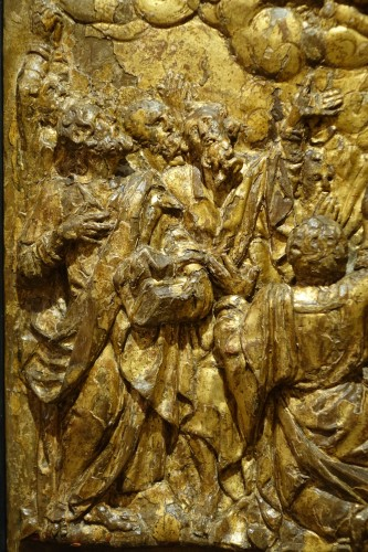 Pair of Carved Oak Gilt Panels, Flanders Late 16th Century - Renaissance