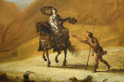 17th Century Oil on Panel Attributed to Bartholomeus Breenbergh - Paintings & Drawings Style