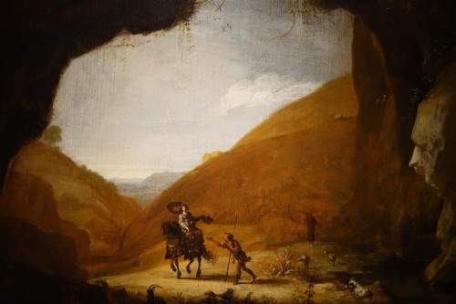 Paintings & Drawings  - 17th Century Oil on Panel Attributed to Bartholomeus Breenbergh