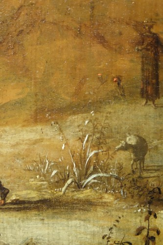 17th century - 17th Century Oil on Panel Attributed to Bartholomeus Breenbergh