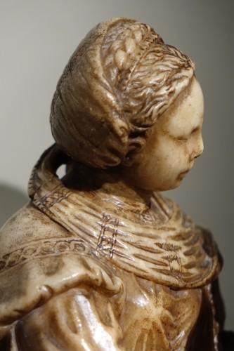Antiquités - Virgin and Child in Alabaster, Flanders, 17th Century