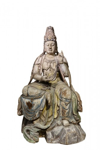 Guanyin, the Chinese Form of the Bodhisattva, Ming Style, China, 19th Centu