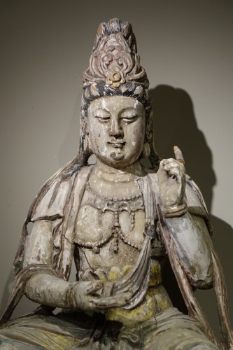 Guanyin, the Chinese Form of the Bodhisattva, Ming Style, China, 19th Centu - Asian Art & Antiques Style