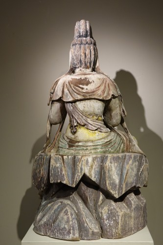 19th century - Guanyin, the Chinese Form of the Bodhisattva, Ming Style, China, 19th Centu