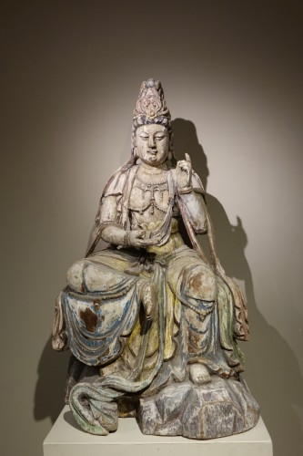 Guanyin, the Chinese Form of the Bodhisattva, Ming Style, China, 19th Centu -
