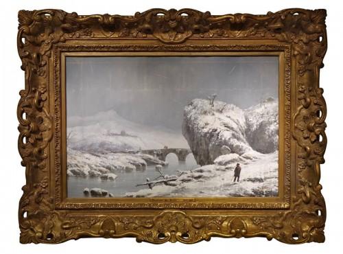 "Giuseppe De Nittis (1846-1884) - Snow Landscape"""
