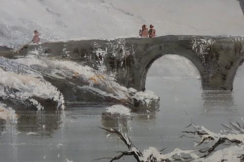 "Giuseppe De Nittis (1846-1884) - Snow Landscape"" -"