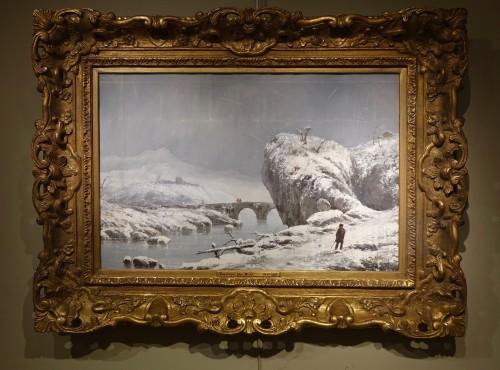 """Giuseppe De Nittis (1846-1884) - Snow Landscape"""" - Napoléon III"""