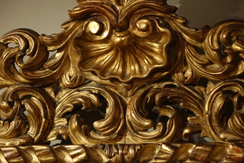 Mirrors, Trumeau  - Large Italian 18th Century  Carved Gilt Wood  Mirror