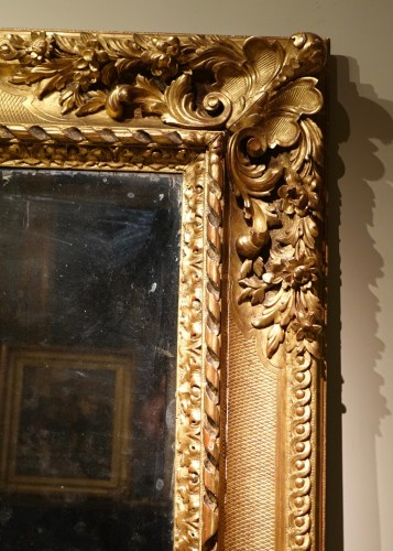 Large Louis XIV Style Mirror, circa 1850 - Mirrors, Trumeau Style Louis-Philippe