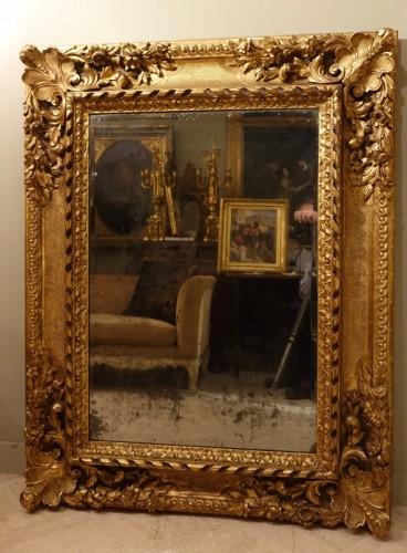 Large giltwood Mirror, circa 1850 - Louis-Philippe
