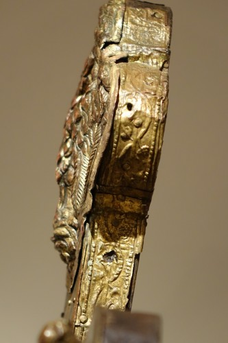 Large Procession Cross, Gilt Copper, Italy Probably the Region of Abruzzo - Religious Antiques Style Renaissance