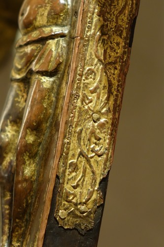 Large Procession Cross, Gilt Copper, Italy Probably the Region of Abruzzo -