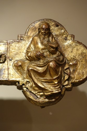 Renaissance - Large Procession Cross, Gilt Copper, Italy Probably the Region of Abruzzo