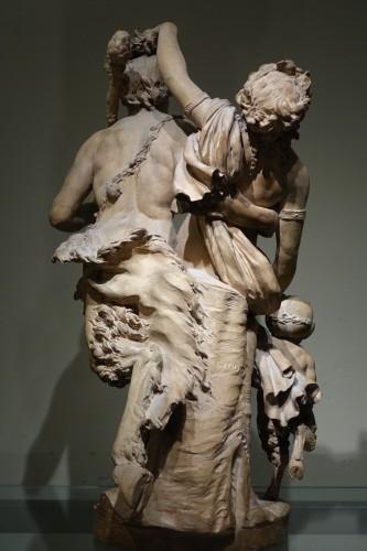 Bacchanal - Terracotta group after Clodion circa 1850  - Napoléon III
