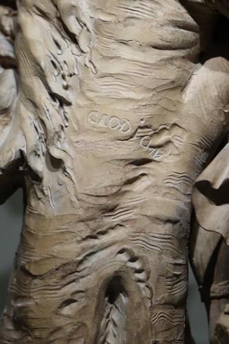 Antiquités - Bacchanal - Terracotta group after Clodion circa 1850